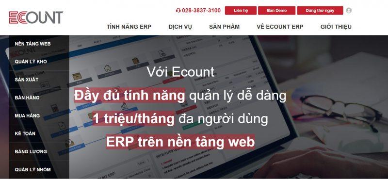Phần mềm quản lý doanh nghiệp Ecount